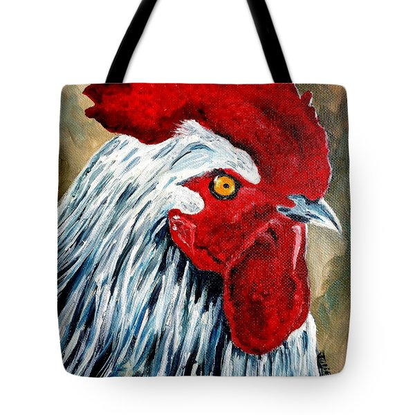 Tote Bag featuring the painting Rooster Doodle by Julie Brugh Riffey