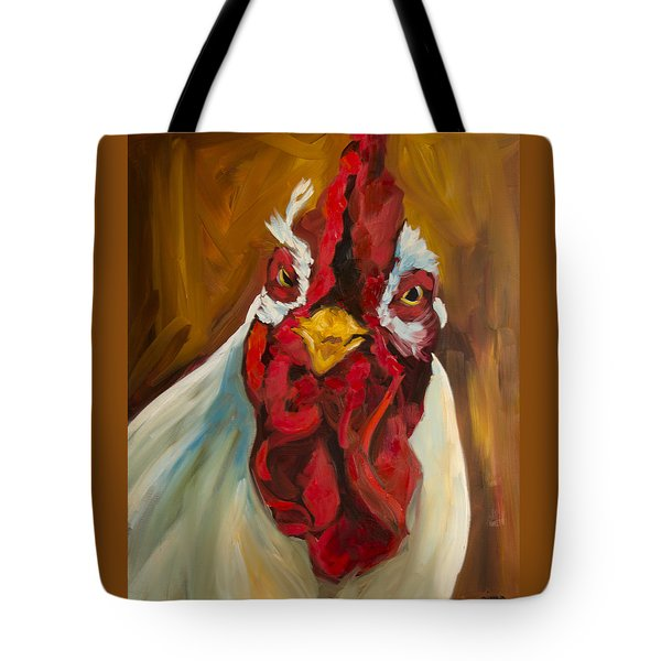 Rooster Face Tote Bag