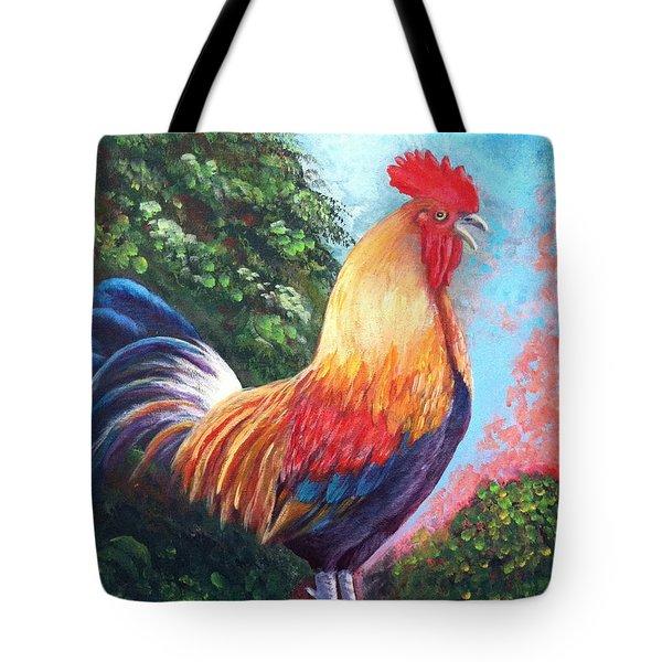 Rooster For Elaine Tote Bag by Bozena Zajaczkowska