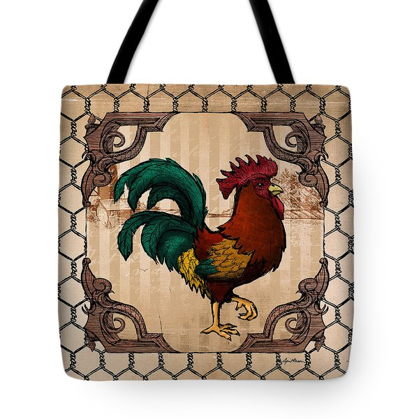 Rooster I Tote Bag by April Moen