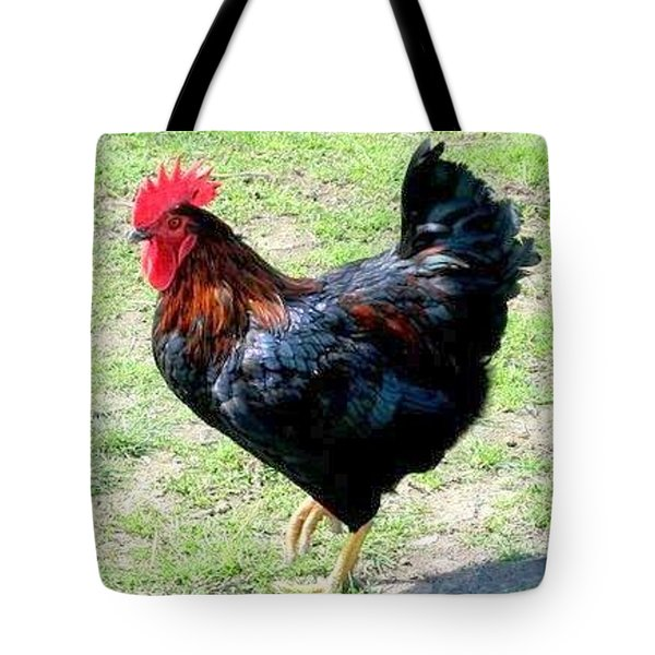 Rooster Tote Bag by Joyce Woodhouse