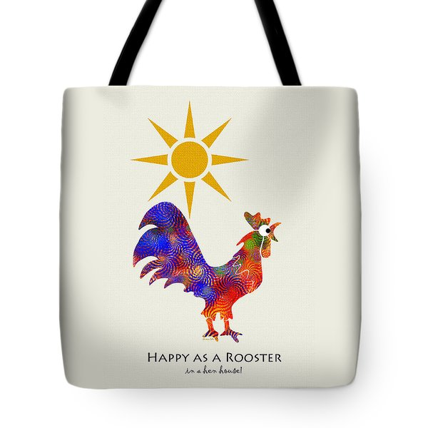 Rooster Pattern Art Tote Bag
