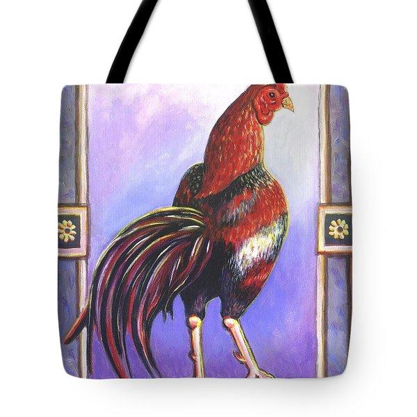Rooster Prince Tote Bag by Linda Mears
