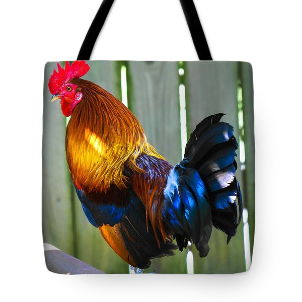 Rooster Tote Bag by Robert L Jackson
