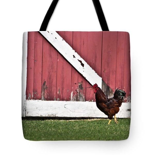 Rooster Strut Tote Bag