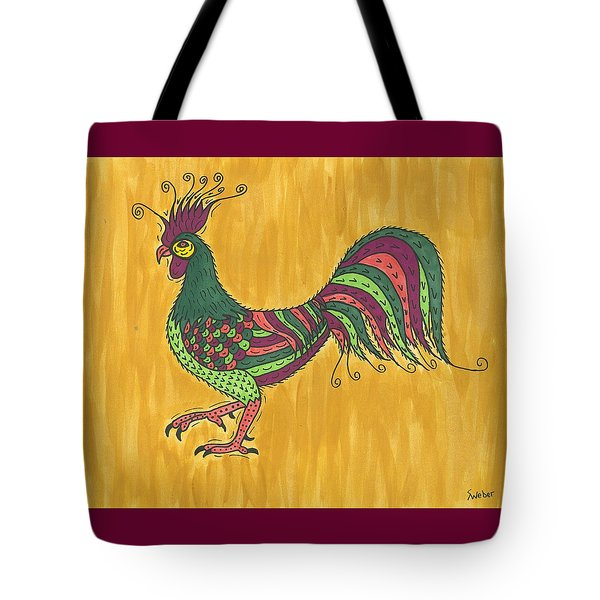 Tote Bag featuring the painting Rooster Strut by Susie Weber