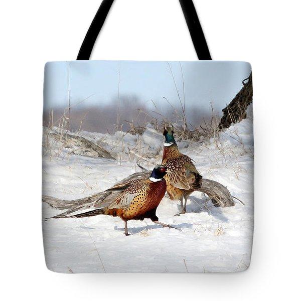 Roosters Tote Bag by Lori Tordsen