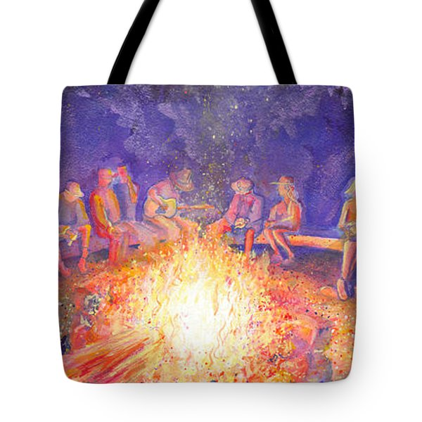 Roots Retreat Campfire Jam Tote Bag