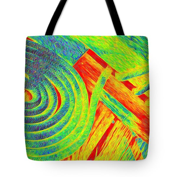 Rope Abstract Tote Bag by Richard Farrington