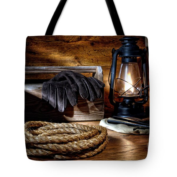 Rope In The Ranch Barn Tote Bag