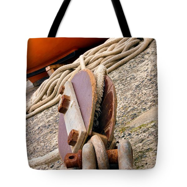 Ropes And Chains Tote Bag by Terri Waters