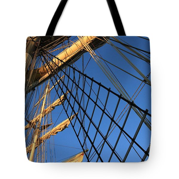 Ropes And Flags Tote Bag