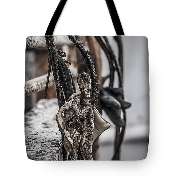Ropes And Gloves Tote Bag by Amber Kresge