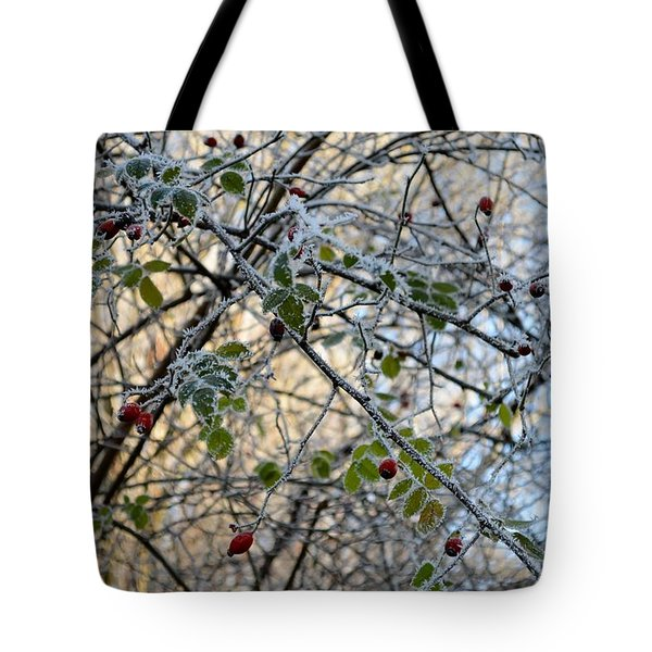 Tote Bag featuring the painting Rosa Canina  by Felicia Tica