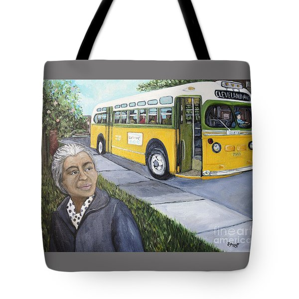 Rosa Parks Tote Bag by Reb Frost