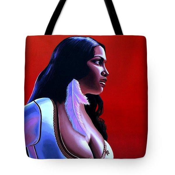 Rosario Dawson Tote Bag by Paul Meijering