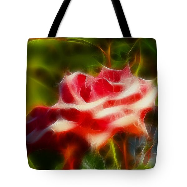 Rose 6168-fractal Tote Bag by Gary Gingrich Galleries