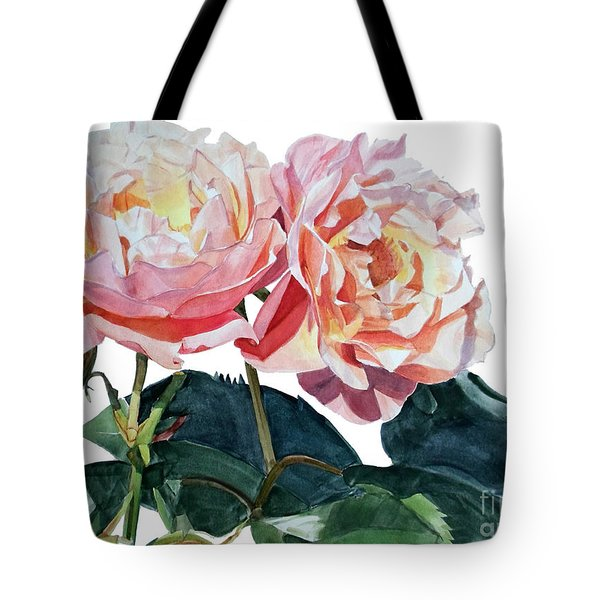 Pink And Yellow Rose Anne Tote Bag