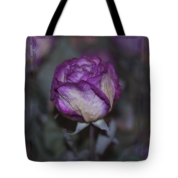 Tote Bag featuring the photograph Rose Beauty After by Sandra Foster