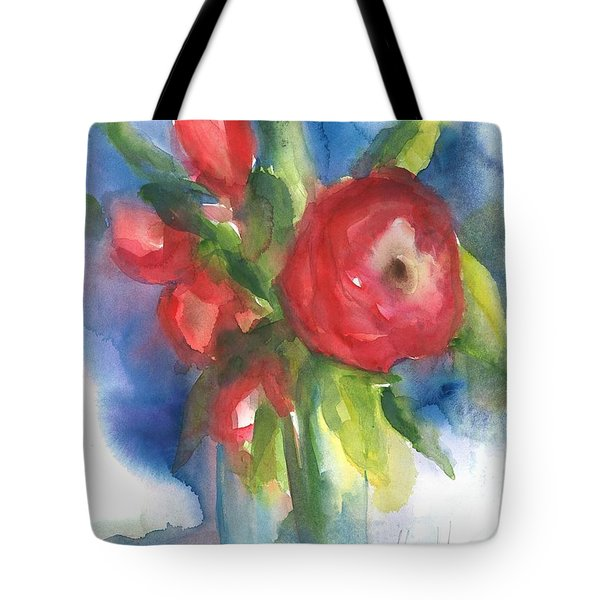 Rose Blooming Tote Bag