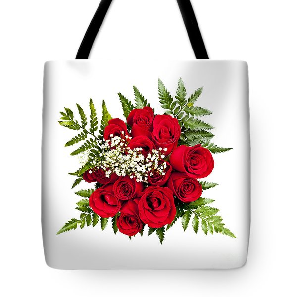 Rose Bouquet From Above Tote Bag by Elena Elisseeva