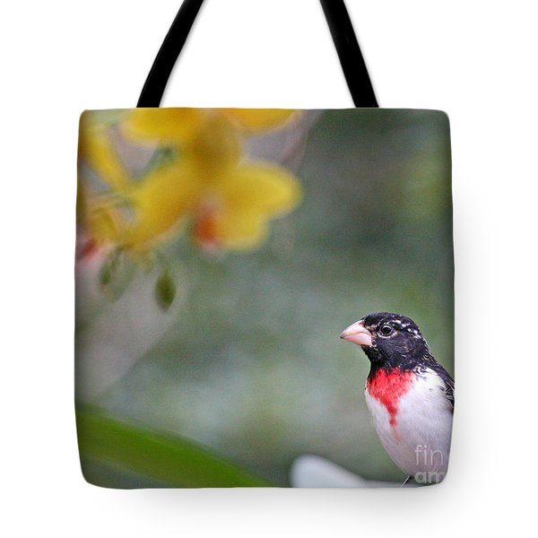 Rose Breasted Grosbeak Photo Tote Bag