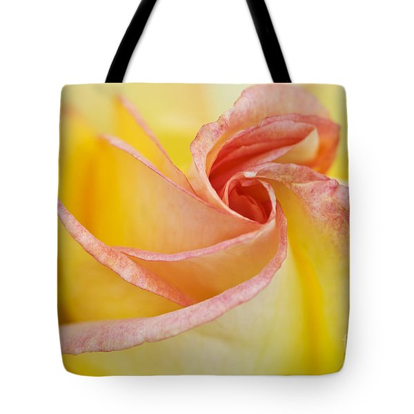Rose Bud Opening Tote Bag