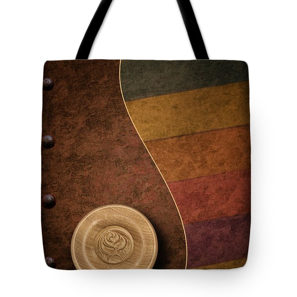 Rose Button Tote Bag by Tom Mc Nemar