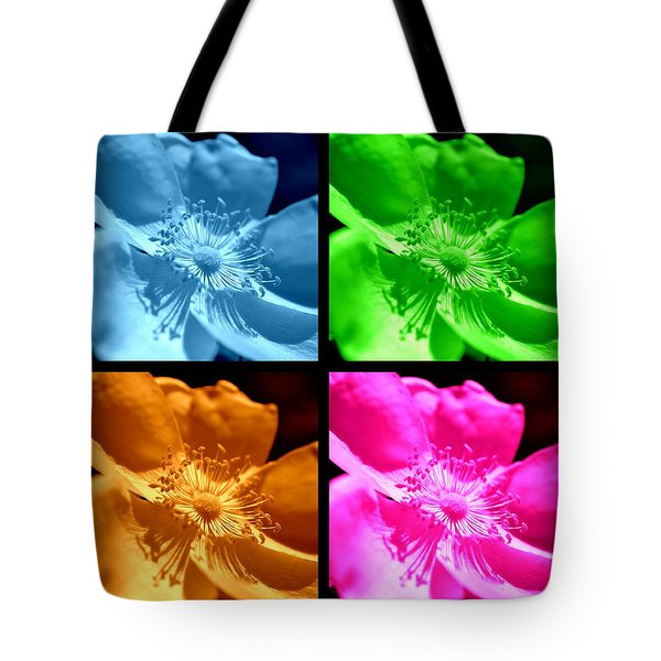 Tote Bag featuring the photograph Rose Collage by Kelly Nowak