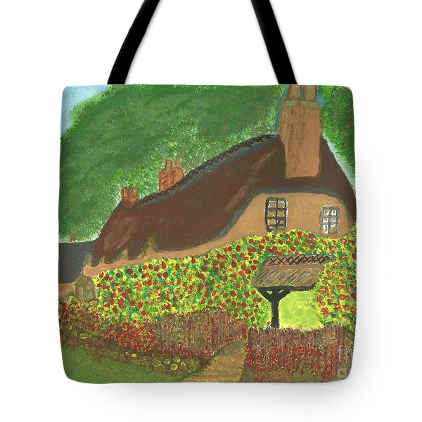 Rose Cottage Tote Bag