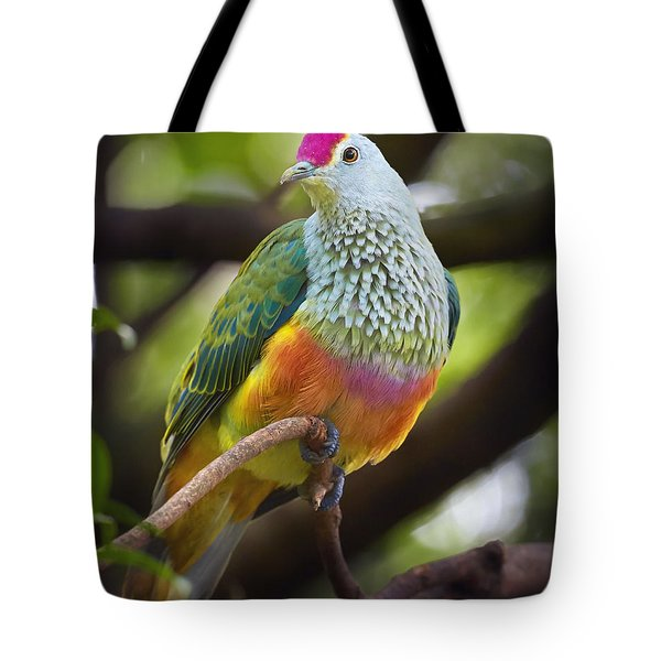 Rose-crowned Fruit-dove Australia Tote Bag