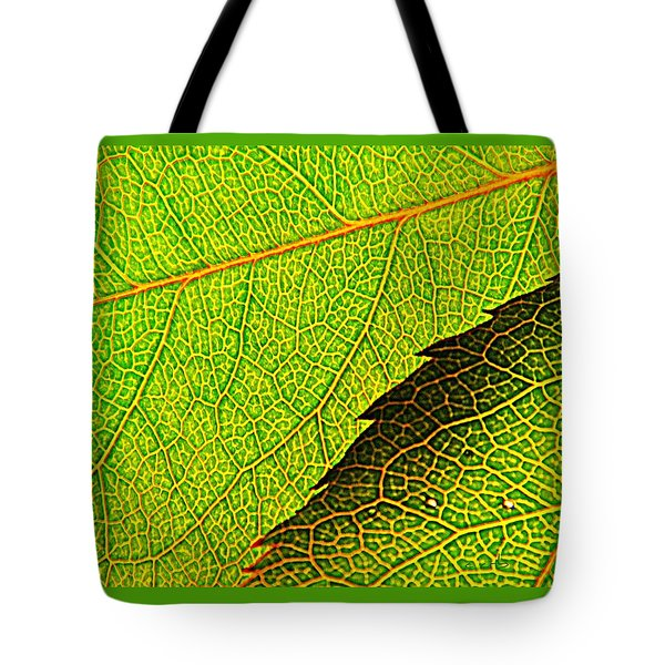 Rose Foliage Number Two Tote Bag by Chris Berry