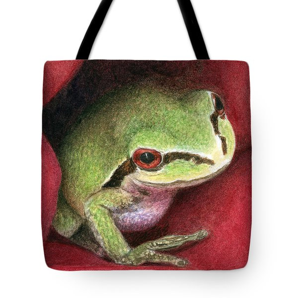 Rose Frog Tote Bag