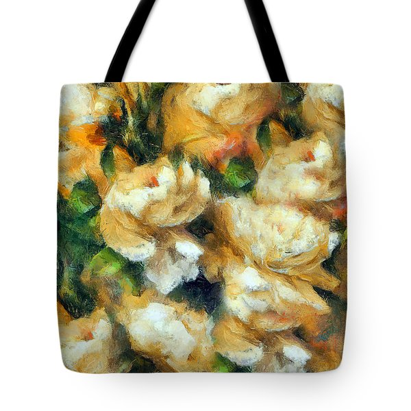 Rose Garden Abstract Expressionism Tote Bag