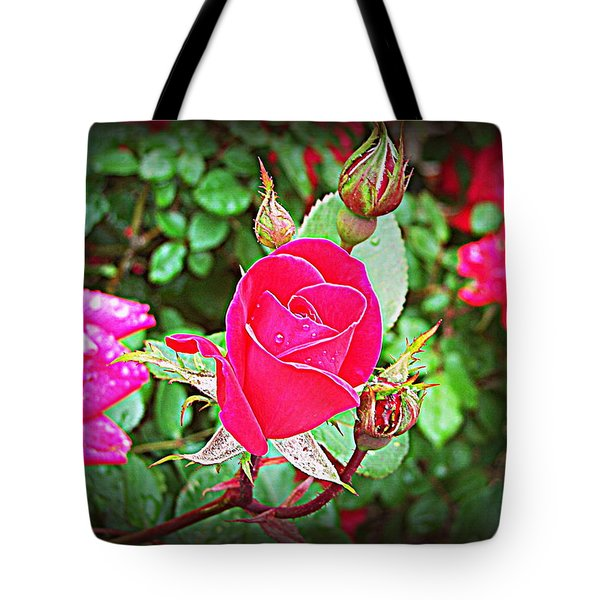 Rose Garden Centerpiece 2 Tote Bag
