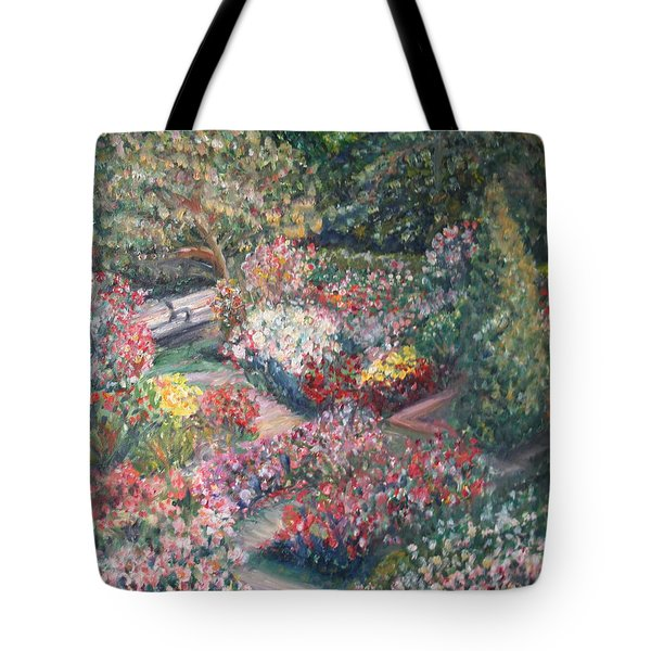 Rose Garden Tote Bag by Quin Sweetman