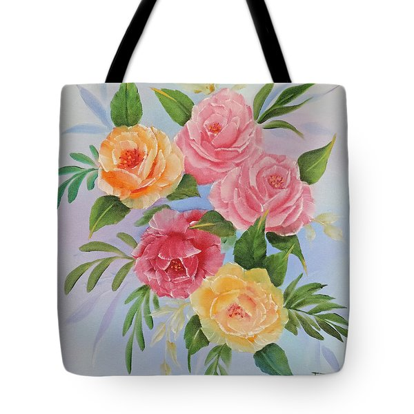 Rose Gathering Tote Bag by Jimmie Bartlett