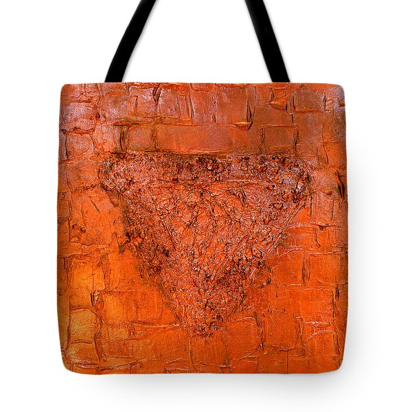 Rose Gold Mixed Media Triptych Part 3 Tote Bag