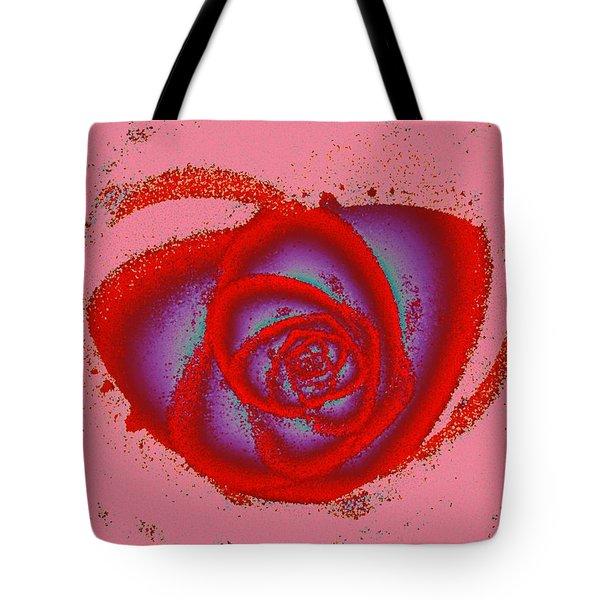 Rose Heart Tote Bag by Anastasiya Malakhova