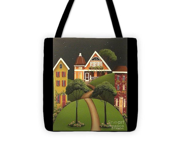 Rose Hill Lane Tote Bag by Catherine Holman