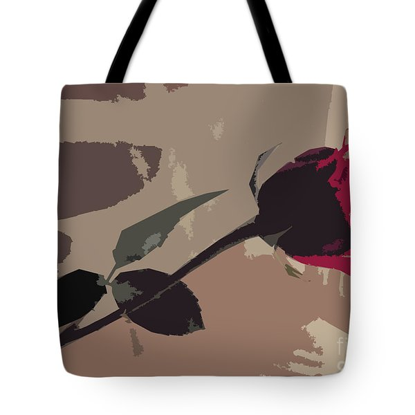 Rose In Abstract Digital Painting Tote Bag by Minding My  Visions by Adri and Ray