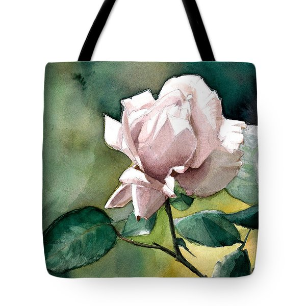 Watercolor Of A Lilac Rose  Tote Bag