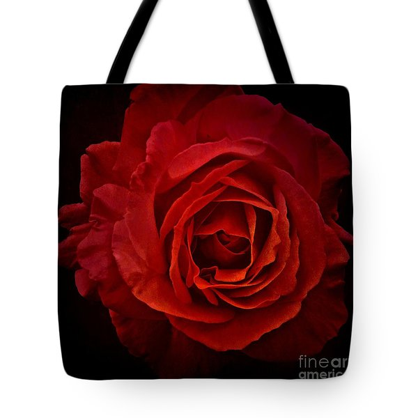 Tote Bag featuring the photograph Rose In Red by Patricia Strand