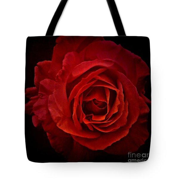 Rose In Red Tote Bag