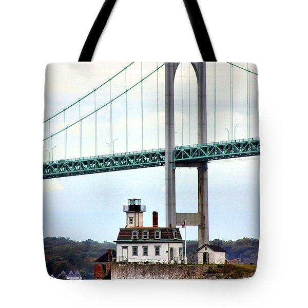 Rose Island Lighthouse Tote Bag
