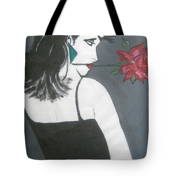 Tote Bag featuring the painting Rose Lady by Nora Shepley