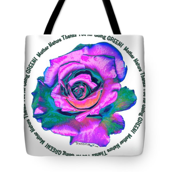 Rose Mother Nature Tote Bag