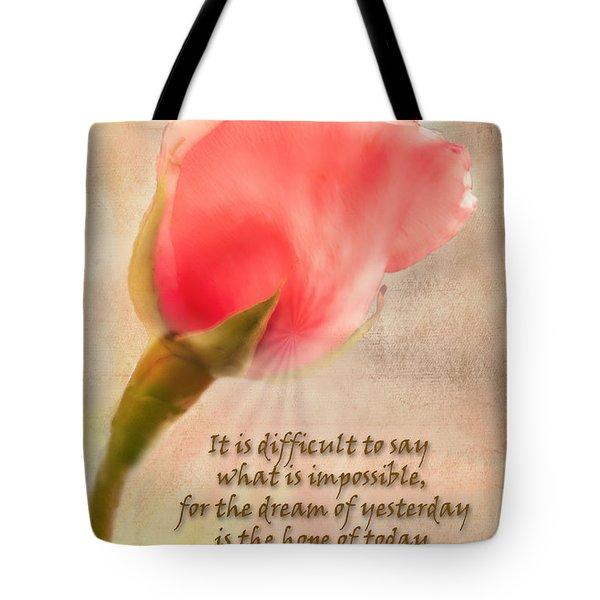 Rose Of Hope Tote Bag
