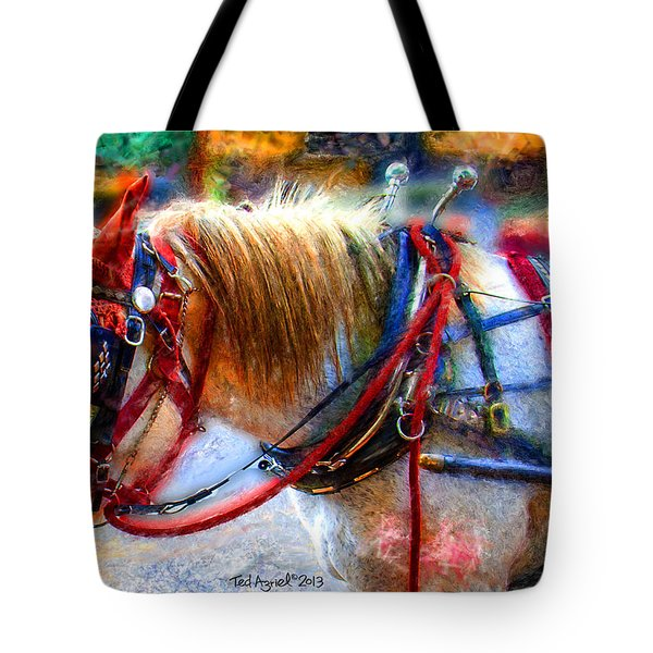Rose Of Marietta Square Tote Bag by Ted Azriel
