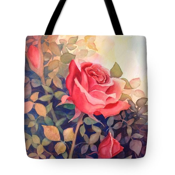 Rose On A Warm Day Tote Bag by Marilyn Jacobson